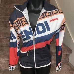 Fendi rare colorful zip up jacket vintage small